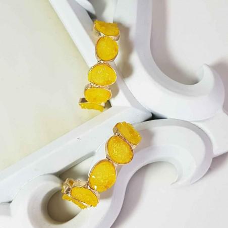 Pendientes Semiaro Amarillos