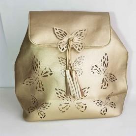 Mochila dorada Mariposas