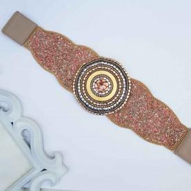Cinturón-fajín rosa Vianka