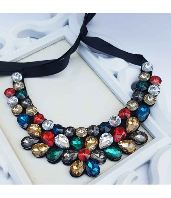 d3d4db2baf7e Collar con Piedras de colores - Bisuteria online