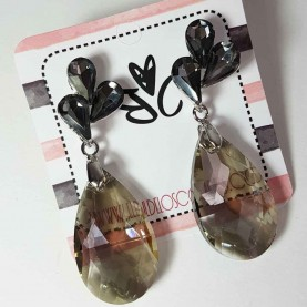 Blue crystal earrings style Alma