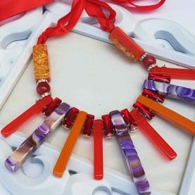 Collar corto Mujer Naranja