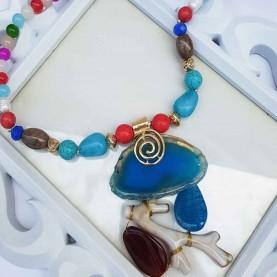 Collar corto mujer Mediterraneo Multicolor