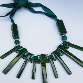 Collar corto Mujer verde