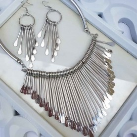 Set Collar y Pendientes Rock