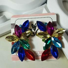 Pendientes Fiesta cristales de colores
