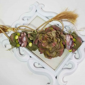 Cinturón Flores verdes