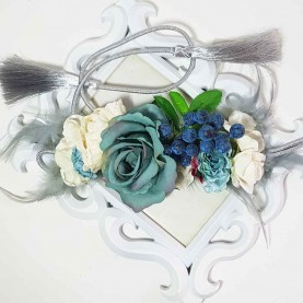 Cinturón Flores azules