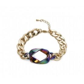 Pulsera cadena cuenta multicolor