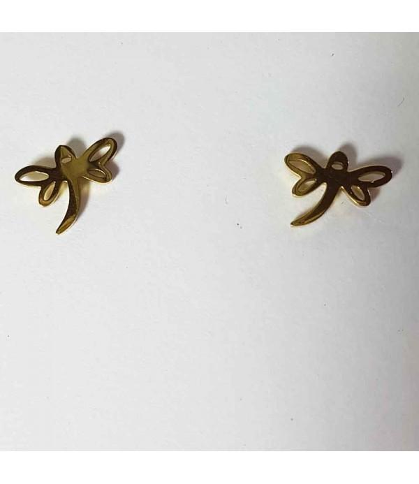 Earrings Steel Dragon-fly