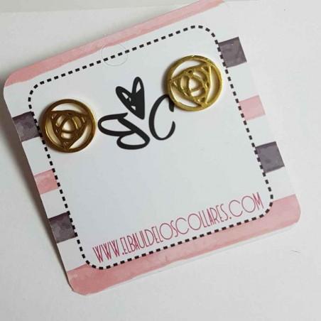 Steel earrings Rina