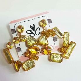 Crystal yellow earrings Jana