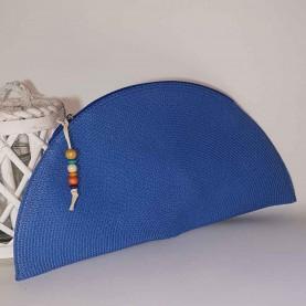 Bolso de mano Rafia azul