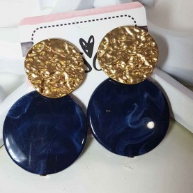 Earrings blue and golden Musa