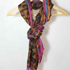 Scarf animal Print Copper style Leona