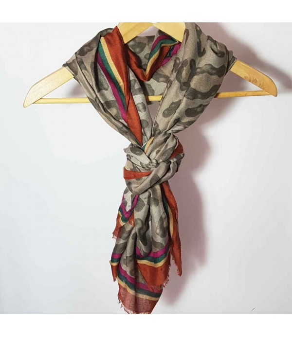 Scarf animal Print Copper style Leona