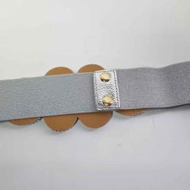 Cinturón-fajín plateado Aitana