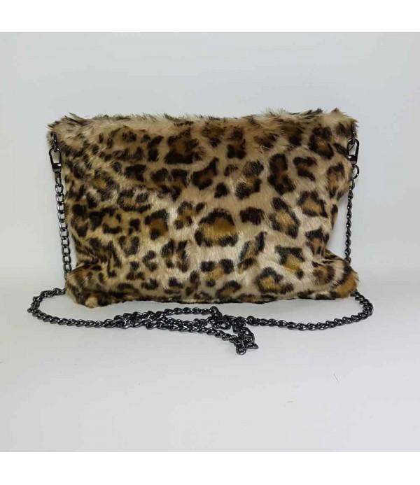 Bolso leopardo de pelo