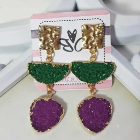 Earrings Ninfa pink and blue