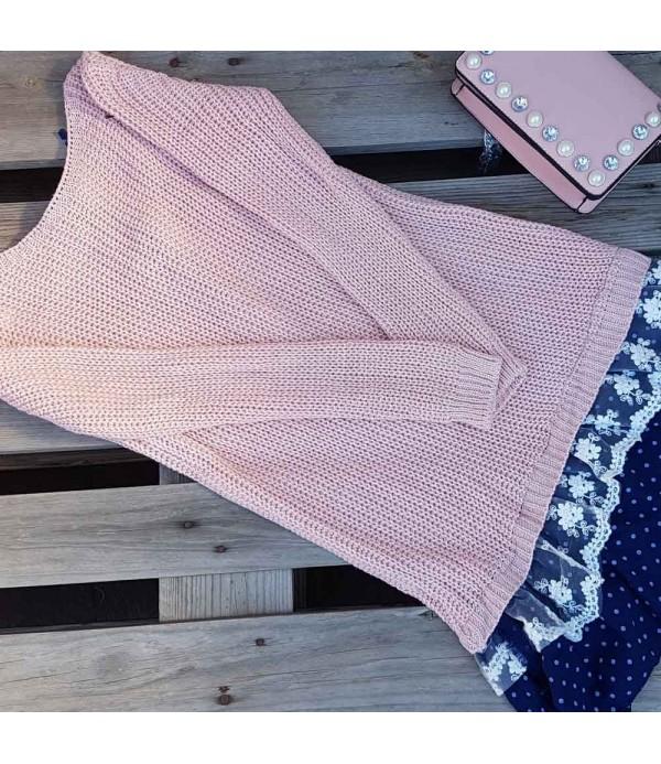 Vestido de lana rosa