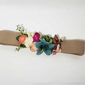 Cinturón Flores combinadas