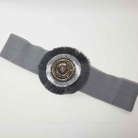 Black belt with front circular detail