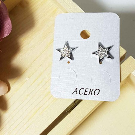 Steel earrings cuore