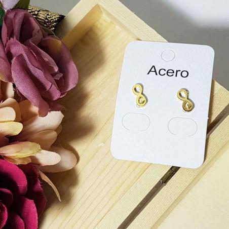 Steel earrings cuore