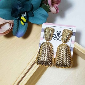 Long Golden Earrings style Espiga