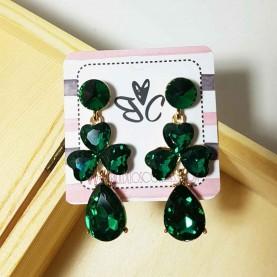 Pendientes verdes Cristal de fiesta Liona