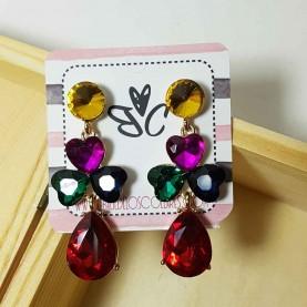 Pendientes multicolor Cristal de fiesta Liona