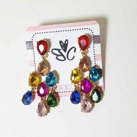 Cristal multicolor earrings style Mia