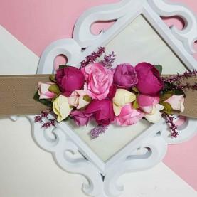 Cinturón con Flores Buganvilla