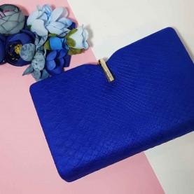 Bolso de fiesta azul Gancho oro