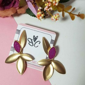Purple earrings style Alexa