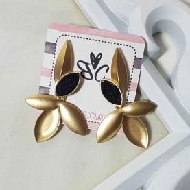 Purple earrings style Alexa