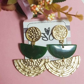 Green earrings style Livia