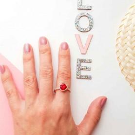 Red Strass Ring