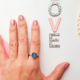 Oval ring Grey