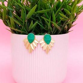 Green Earrings Dafne