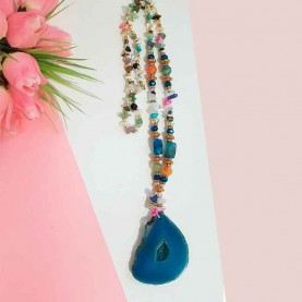 Women long necklace with...