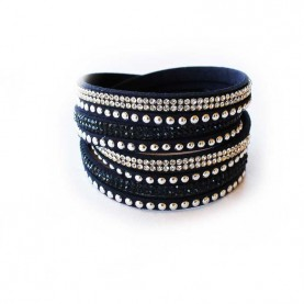 "Pulsera ""rock star "" negra"