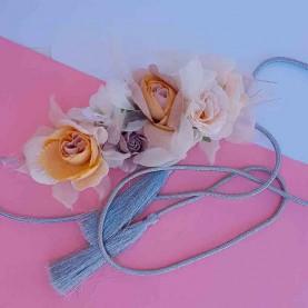 Cinturón Flores mostaza