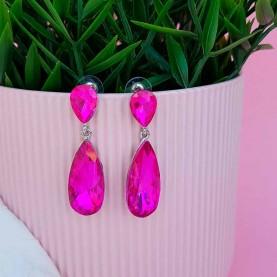 Crystal pink Long earrings...