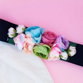Flowers Belt Light Colors
