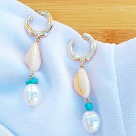 Long earrings Shell