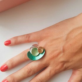Adjustable Ring Green