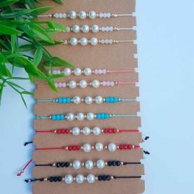 Pearl thread bracelets
