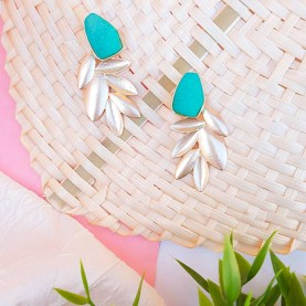 Green earrings Lola