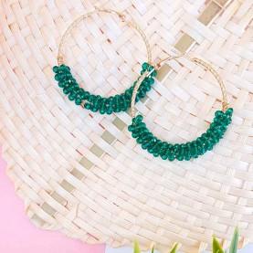 Hoop Earrings Green